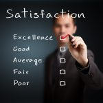 How can business management solutions help improve customer satisfaction?
